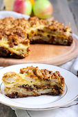 Apple and cheese tart — Stock Photo
