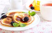 Panquecas de berry — Fotografia Stock