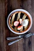 Strawberry tart on a plate — Stock Photo