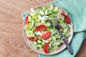 Salad with tomatoes, cabbage, cucumbers — Stock Photo