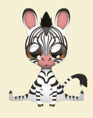 Cute Zebra — Stock Vector