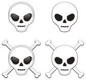 Skulls variants — Stock Vector