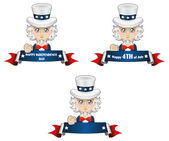 Uncle Sam with banner — Stock Vector
