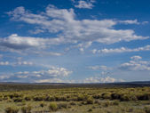 Sunny and Cloudly Day near the Mono Lake — Stock Photo