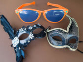 Carnival Mask and Sunglasses — Foto Stock