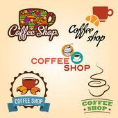 Coffee shop logos. — Stock Vector