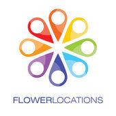 Locations logo — Stock Vector