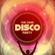 Disco Party Flyer Background Template - Vector Illustration — Stockvector