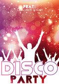 Disco Party Flyer Template - Vector Illustration — Stock Vector