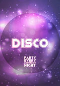 Disco Party Flyer Template - Vector Illustration — Stock Vector