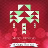 Modern Minimal Abstract Christmas Tree Background - Vector Illustration — 图库矢量图片