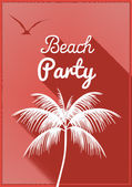 Minimal Flat Summer Beach Party Flyer Template - Vector Illustration — Stock Vector