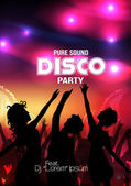 Disco Party Poster - Vector Illustration — Stock Vector