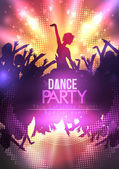 Disco Party Poster Background Template - Vector Illustration — Stock Vector