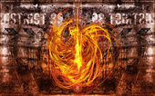 Fire devil — Stock Photo