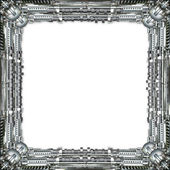 Picture Frame technically in silver — Foto Stock