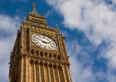 Detail of the clock tower in london — Stock Photo