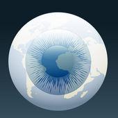 Eyeball globe — Stock Vector