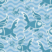 Fishes pattern — Stock Vector