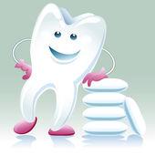 快乐健康的牙齿与谏言胶 — 图库矢量图片