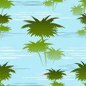 Morning jungles seamless pattern — Stock Vector