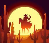 Desert rider — Stock Vector
