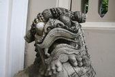 Drachenkopf aus Stein — Stockfoto