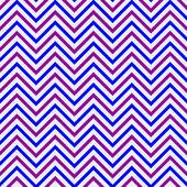 Muster Zickzack blau aubergine — Stock Vector