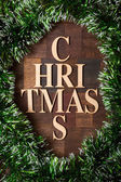 Wooden letters shaped christmas tree — Stock Photo