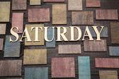 Samstag — Stockfoto