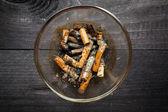 Cigarette butts - anti-smoke — Stock Photo