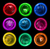 Colorful condoms — Stock Photo