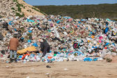 Pile of domestic garbage in landfill — Stock Photo
