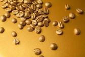 金黄的咖啡豆 — 图库照片