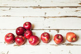 Apples on a white vintage background   — Stock Photo