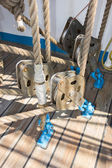 Elements of equipment of a yacht — Stock Photo