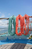 Elements of equipment of a yacht — Stok fotoğraf