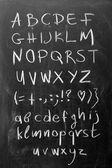 Alphabet on blackboard — Stock Photo