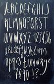 το αλφάβητο στον μαυροπίνακα — Φωτογραφία Αρχείου