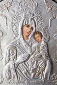 Virgin Mary holding the Child Jesus Eastern Orthodox Icon — Stock Photo