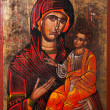 Virgin Mary holding the Child Jesus Eastern Orthodox Icon — Stock Photo #47972455