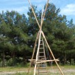 Постер, плакат: Scout wooden construction