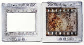 Old plastic slide film mount frame — Stock Photo