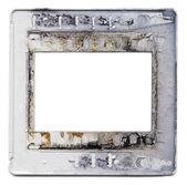 Ancien cadre de montage de film en plastique slide — Photo