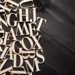 Random Wooden Letterpress Alphabet — Stock Photo #48392487