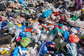 Pile of domestic garbage in landfill — Fotografia Stock