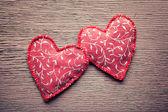 Corações de tecido — Foto Stock