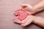 Hands with heart — Foto Stock