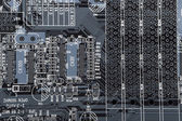 Computer electronic circuit background  — Foto Stock