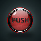 Push circular icon on white background — Stock Photo